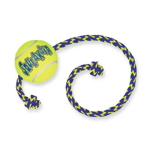 afbeelding Hondenspeelgoed Squeakair Ball with Rope