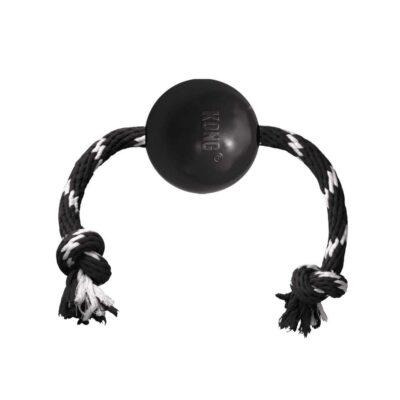 afbeelding Hondenspeelgoed Extreme Ball met touw